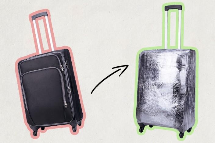 как обмотать чемодан плёнкой