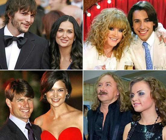 звездные пары с разницей в возрасте