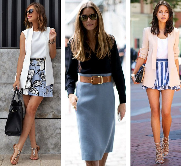 юбки с завышенной талией
