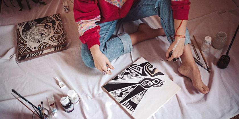 Художница Таня Руфи: детскость с налетом старости