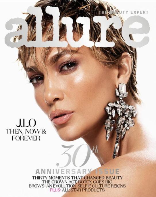 Дженнифер Лопес обложки журнала Allure сменила имидж