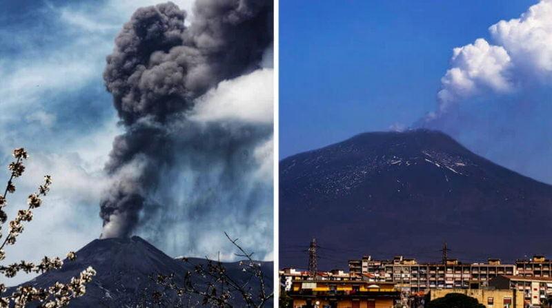 В Италии вулкан Этна снова о себе напомнил